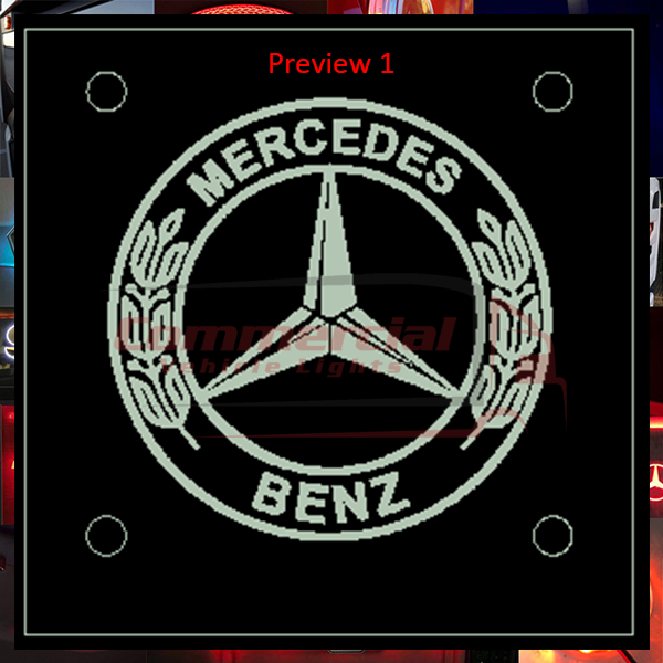 MERCEDES LED WINDSCREEN SIGNS