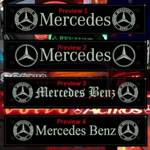 MERCEDES LED WINDSCREEN SIGN