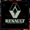 RENAULT LED WINDSCREEN SIGNS 150x150mm x 2 1