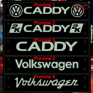 VOLKSWAGEN CADDY WINDOW SIGN