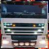 DAF BACK-LIT LED NAME BADGE CHROME EURO 5 1