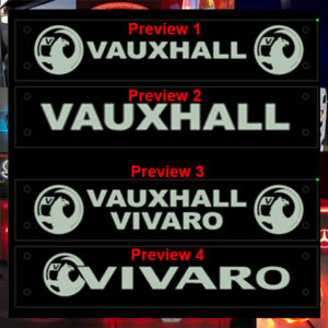 VAUXHALL LED WINDOW SIGN