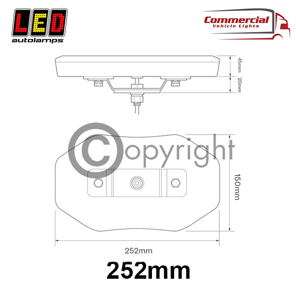 252MM MINI LED LIGHTBAR