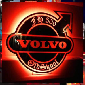 VOLVO CUSTOM TRUCK LED MIRROR / LIGHT BOARD 50X50CM