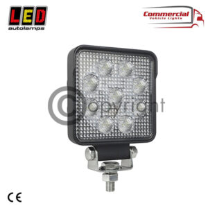 HIGH POWERED SQUARE LED WORKLAMP WITH OSRAM LEDS