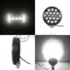 ROUND LED SPOT LIGHT WITH DAYTIME RUNNING LIGHT (220MM)