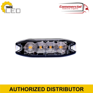 4 LED SLIMLINE GRILLE / SURFACE MOUNT STROBE LIGHT