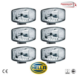 HELLA Jumbo 320 FF Spot Light / LED Position Lights x 6