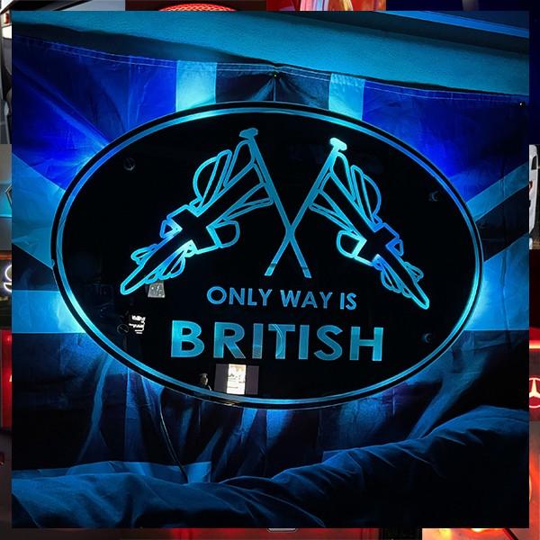 ONLY WAY IS BRITISH INTERIOR LIGHT BOARD / MIRROR