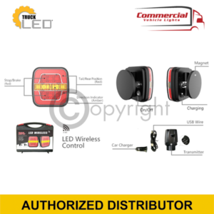 LED WIRELESS MAGNETIC TRAILER LIGHT SET