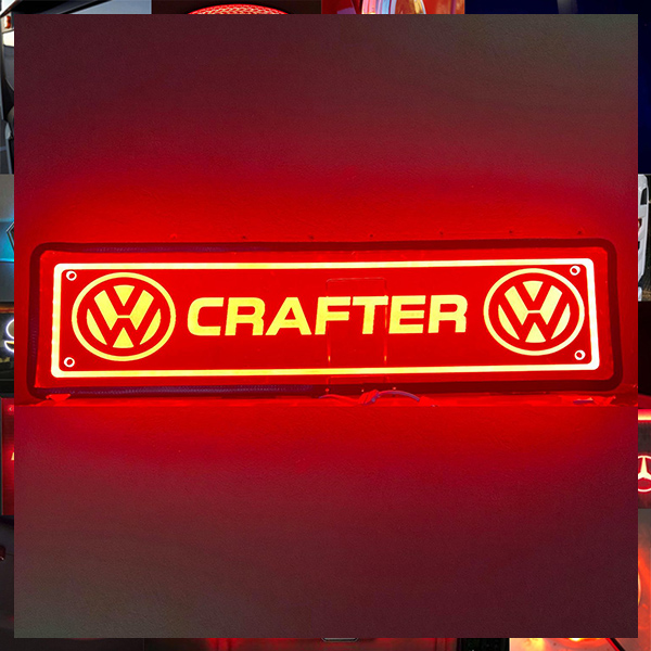 VW CRAFTER PLEXI GLASS LIGHT BOARD 70X18CM