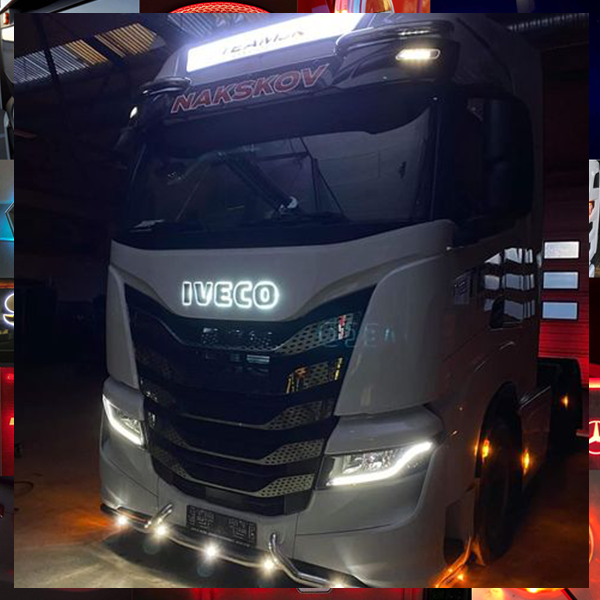 IVECO GRILLE BADGE STAINLESS STEEL LED BACK-LIT