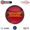 24v LED MINI HAMBURGER 2 FUNCTION REAR COMBO LIGHTS x 2 1