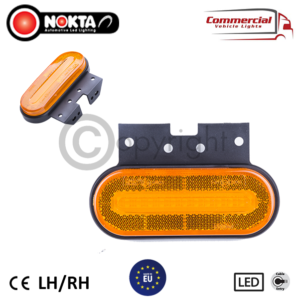 8 X 24 VOLT NEON OUTLINE MARKER LIGHTS WITH REFLECTOR