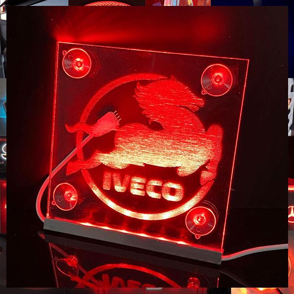 IVECO LED WINDSCREEN SIGNS 150x150mm x 2