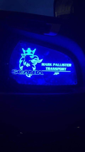 Scania Truck LED Interior Door Panels