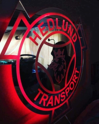 500x500 mm LED Truck Mirror / Truck Lightboard